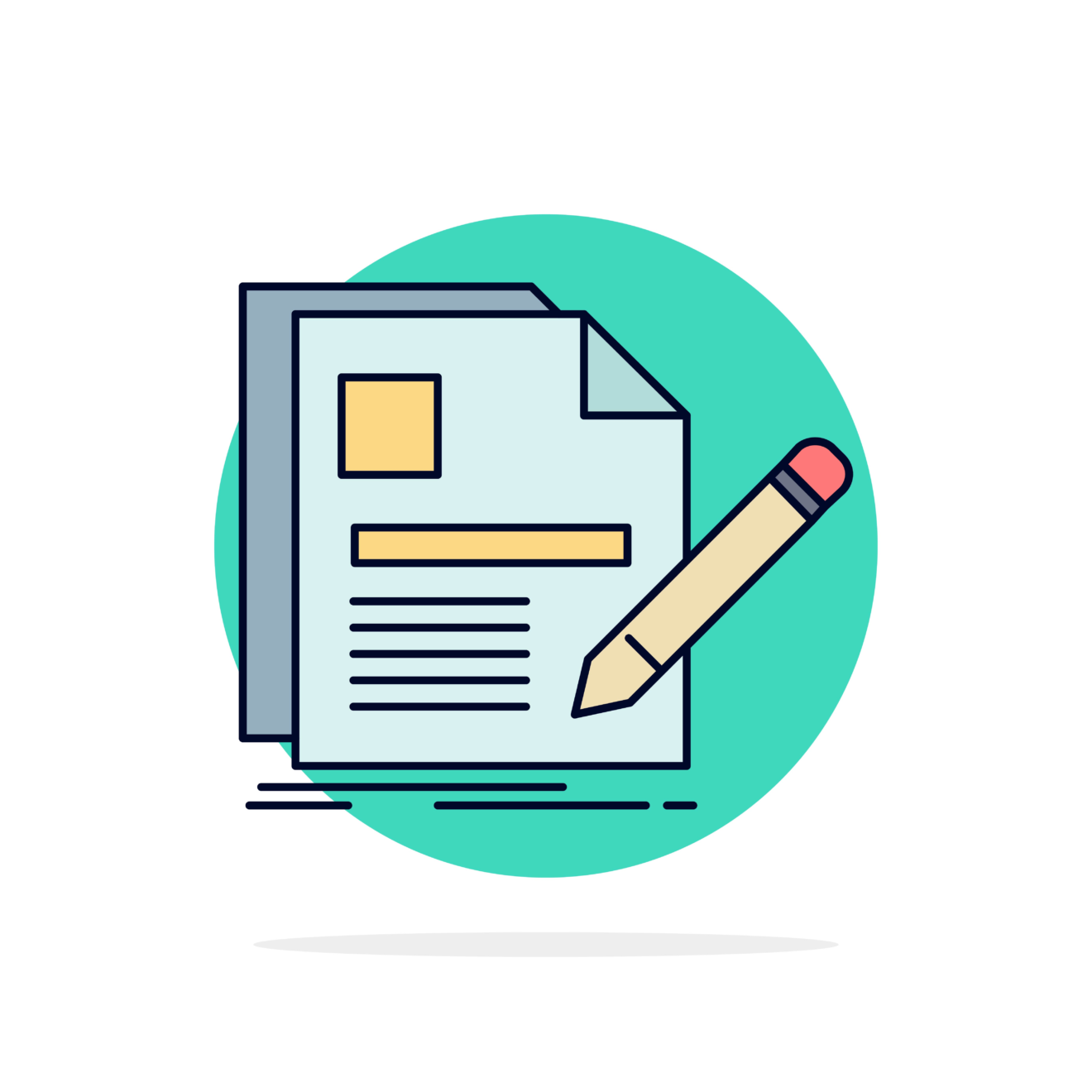 —Pngtree—document file page pen resume_4770912