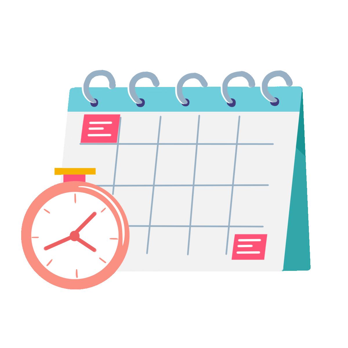 —Pngtree—calendar time monthly calendar chart_5324170